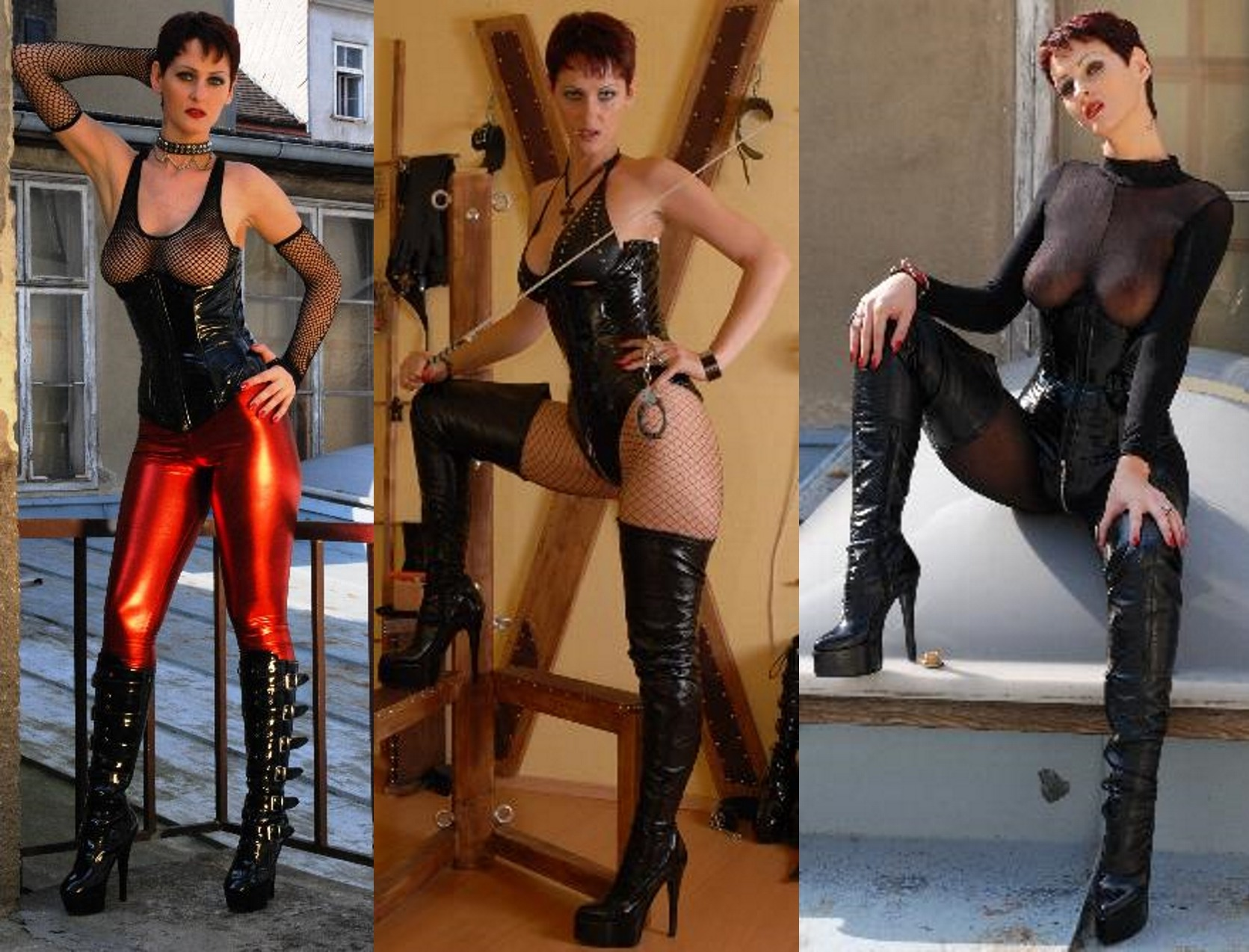 Nina Desire in domina clothes in Vienna