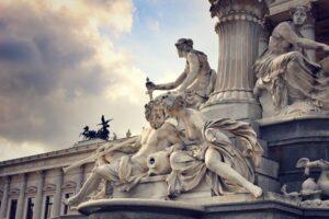 a statue in Vienna