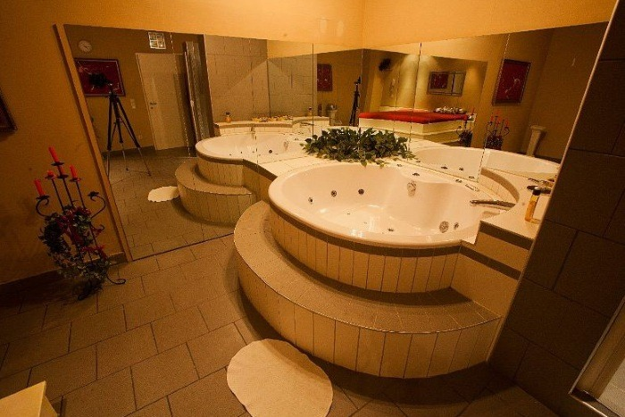 One of the rooms with Jacuzzi
