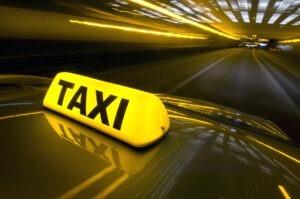 Taxi logo of a Vienna taxi