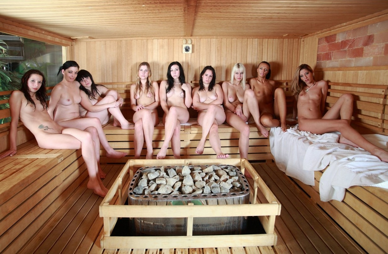 Girls in an FKK Sauna Club in Prague