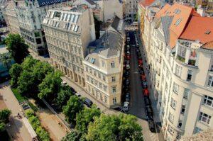 Vienna from birds view